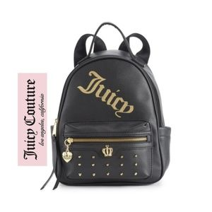 Juicy Couture Black and Gold on Tour Backpack